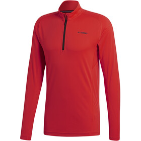 adidas TERREX TraceRocker Hardloopshirt lange mouwen Heren rood